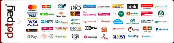 Bezpieczne płatności obsługiwane przez DotPay.pl
